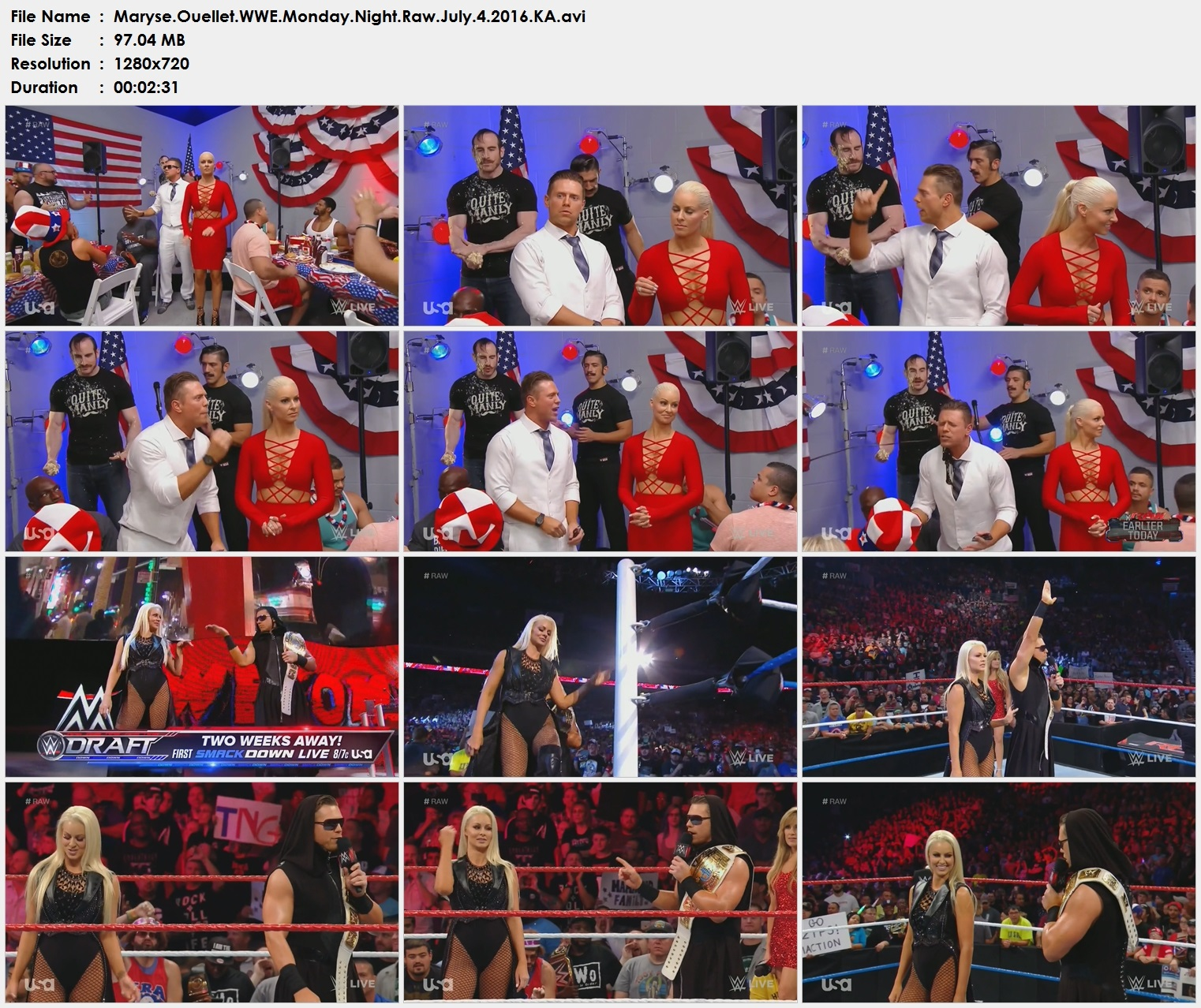 Maryse.Ouellet.WWE.Monday.Night.Raw.July.4.2016.KA.avi