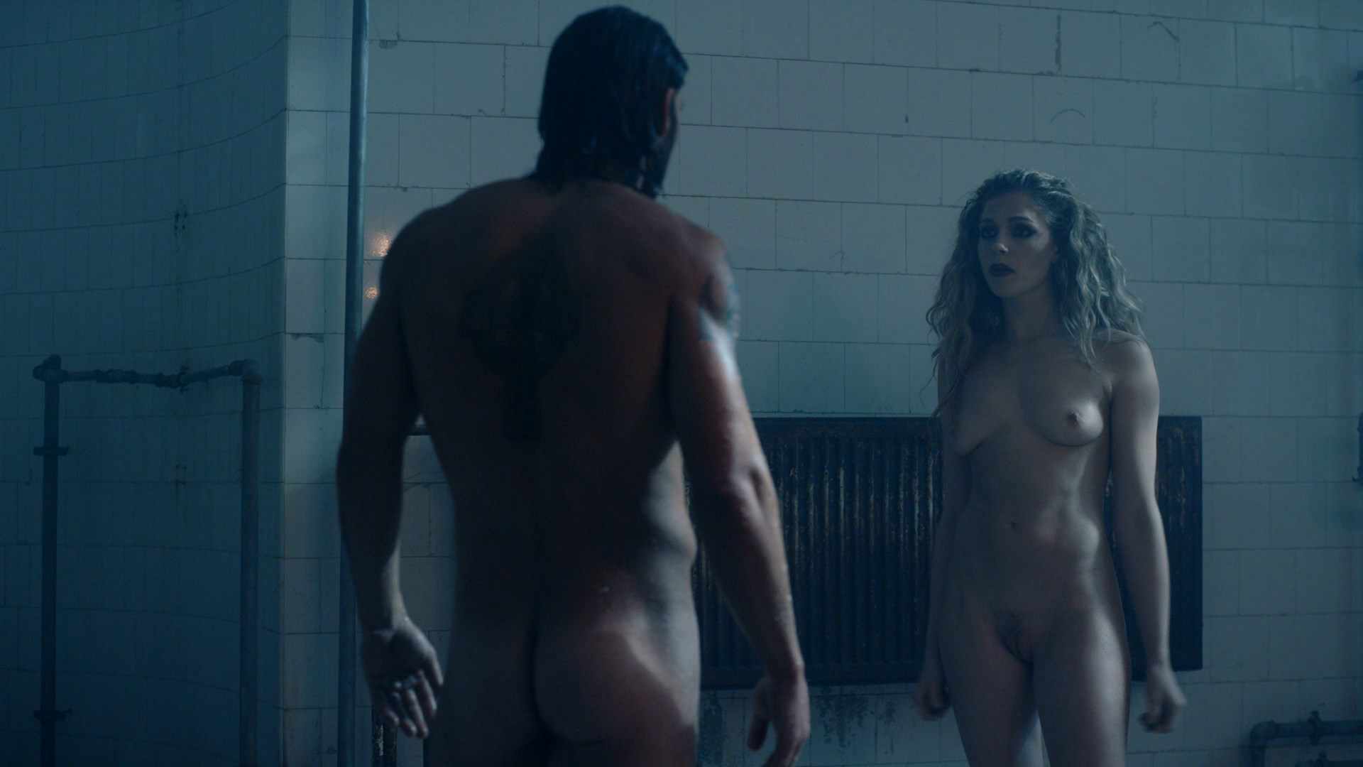 Naked in race to the scene